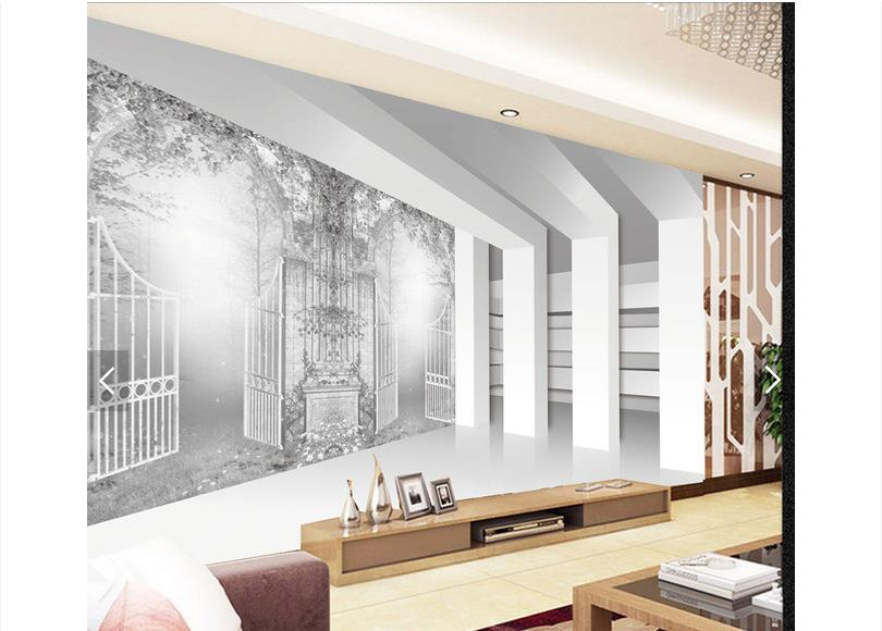 Customized 3d photo wallpaper 3d TV wallpaper murals 3 d European ink setting wall paper 3d living room wallpaper custom 3d photo wallpaper for walls 3 d wall murals wallpaper 3d european style white building palace living room tv wall paper