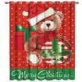 Рождественский Мишка  занавески на окна  занавески на окна  темные занавески  декор для ванной комнаты  тканевые занавески  детское окно