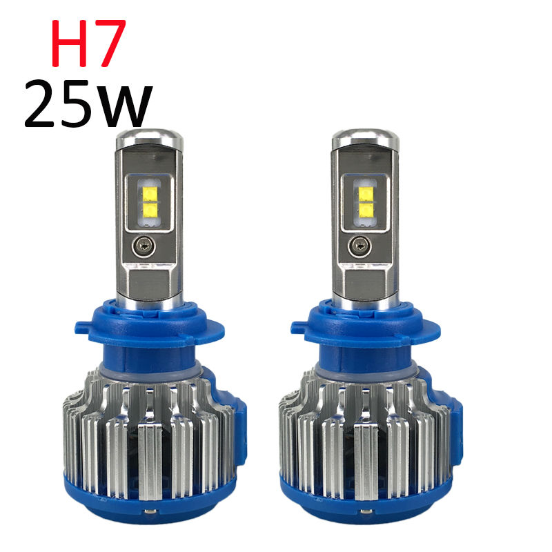 H7 LED Headlight Pair Plug&Play Car Conversion Kit with Cree chip High Low Beam Auto Headlamp 50W 6000K 5000LM 12V 24V one set 9004 cree led headlight conversion kit high low beam hb2 auto car moto car styling led headlamp driving lamp bulbs white