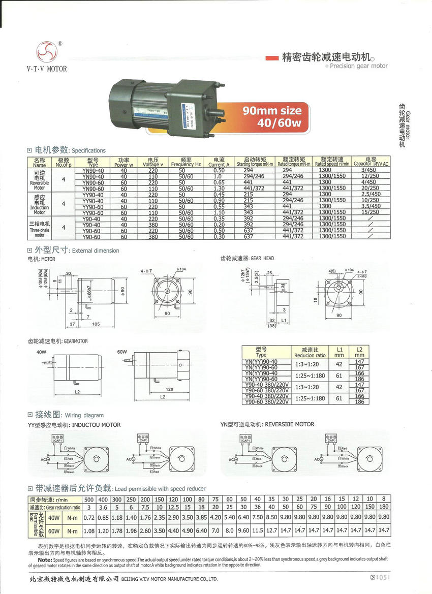 4. YN90-40,60W