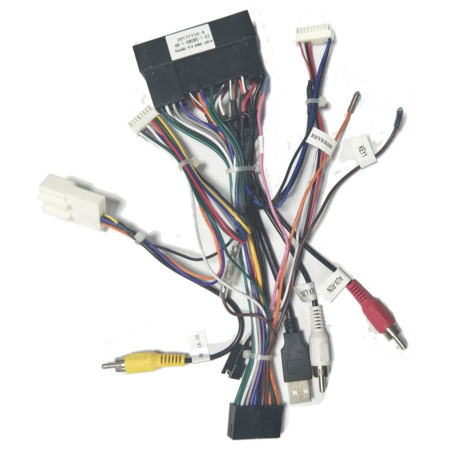 car stereo 20 pin power adapter wiring harness for kia k2 k3 k5 k7 rio sorents [ 900 x 900 Pixel ]