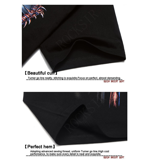 2016 Ny stil Hot sälja 100% bomull O-Neck AC / DC svart kortärmad - Herrkläder - Foto 4