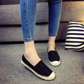 2016 Famous Brand Design Women Canvas Espadrilles Flats Shoes Slip On Creepers Women Rivets Loafers Spring Autumn Ladies Shoes