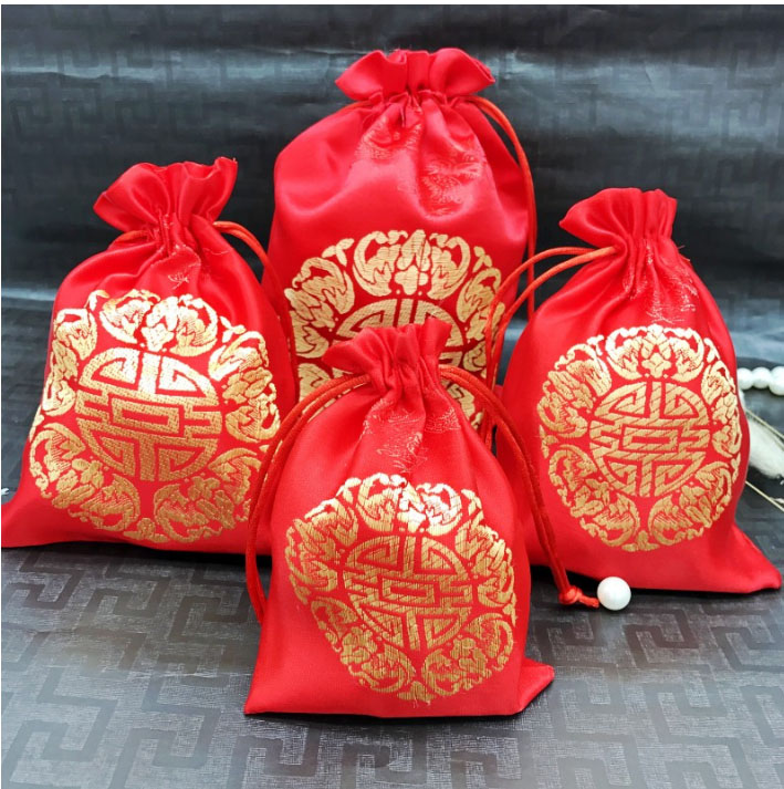 Image 5 - China Embroider Silk Stain Jewelry Gift Pouch 10x13cm(4x5inch) 