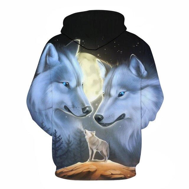 3D Sweatshirts Wolf Hoodies Tracksuits Tops 4