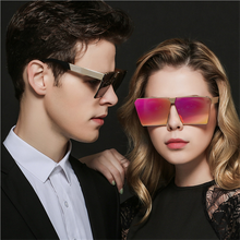 fashion women square sunglasses metal frame men shades uv400 goggles glasses clear lens mirror brand designer