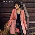 Woman's fur coat Sheepskin Long section Thin   GSJ008
