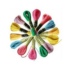 Выберите любые цвета и количество всего 100 шт. Аналогичная DMC Вышивка крестиком шелковая пряжа нить