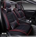 Para mercedes benz w203 w204 w211 ML300 rojo negro suave impermeable pu de cuero cubierta de asiento de coche marca asiento delantero y trasero completo cubre