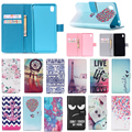 Slot Card Wallet Style Fashion PU Leather Stand Buckle Cover For Sony Xperia M4 AQUA Case Soft TPU
