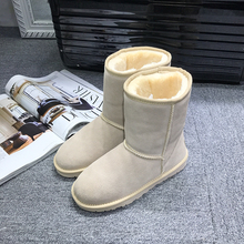 GXLLD hotselling popular classic tube snow boots women boots leather leather boots 100% leather boots winter warm shoes waterp