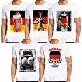Moda Alemanha Camisa de Impressão 2016 Homens Fan Suporter Marca Roupa Engraçada O Pescoço T-shirt Tops de Tee Hip Hop Manga Curta Tshirt Homme