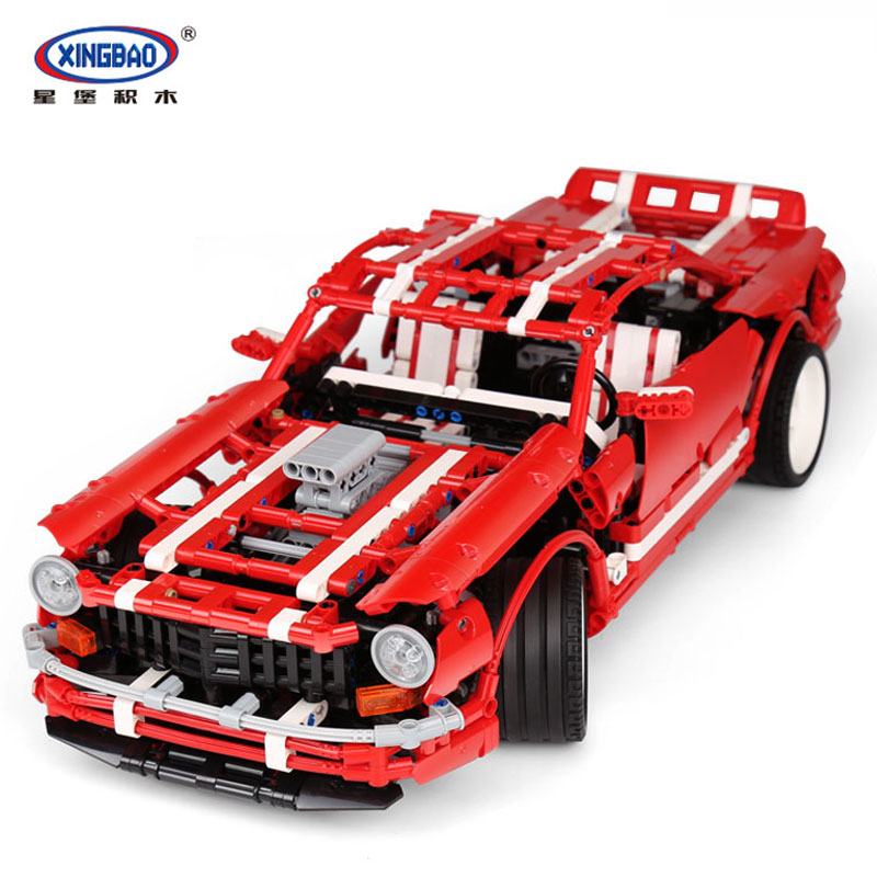 XingBao 07001 Blocks 2000Pcs Creative MOC Series The 2014 Muscle Car Set children Educational Building Blocks Bricks Toy Model 72pcs educational building blocks set
