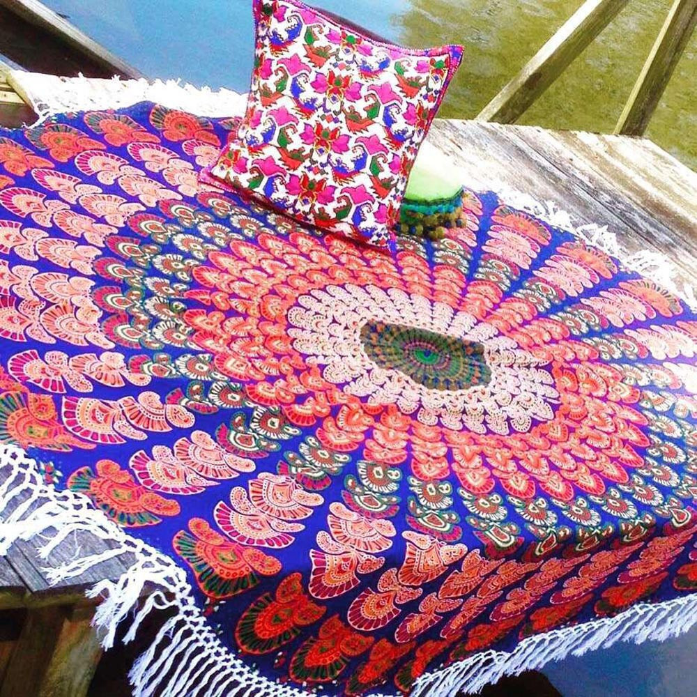 New Beach Cover Up Bikini Summer Dress Pool Home Shower Towel Blanket Table Yoga Mat Mandala update Outdoor Carpet