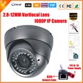 Varifocal Lens 2.8-12mm Dome Vandalproof  IP Camera Indoor Outdoor 2.0MP 1080P SONY IMX322 ONVIF IOS Android P2P IP Camera CCTV