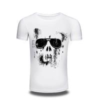 shirt men 2016 New Men swag casual t shirt Men's Short Sleeve Knitted fabrics men t-shirt white colors t shirt homme