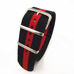 Image 3 - ¡Gran oferta! Correa de reloj de nailon de alta calidad, 10 unidades por lote, correas NATO zulu de 24MM, resistente al agua, 10 colores