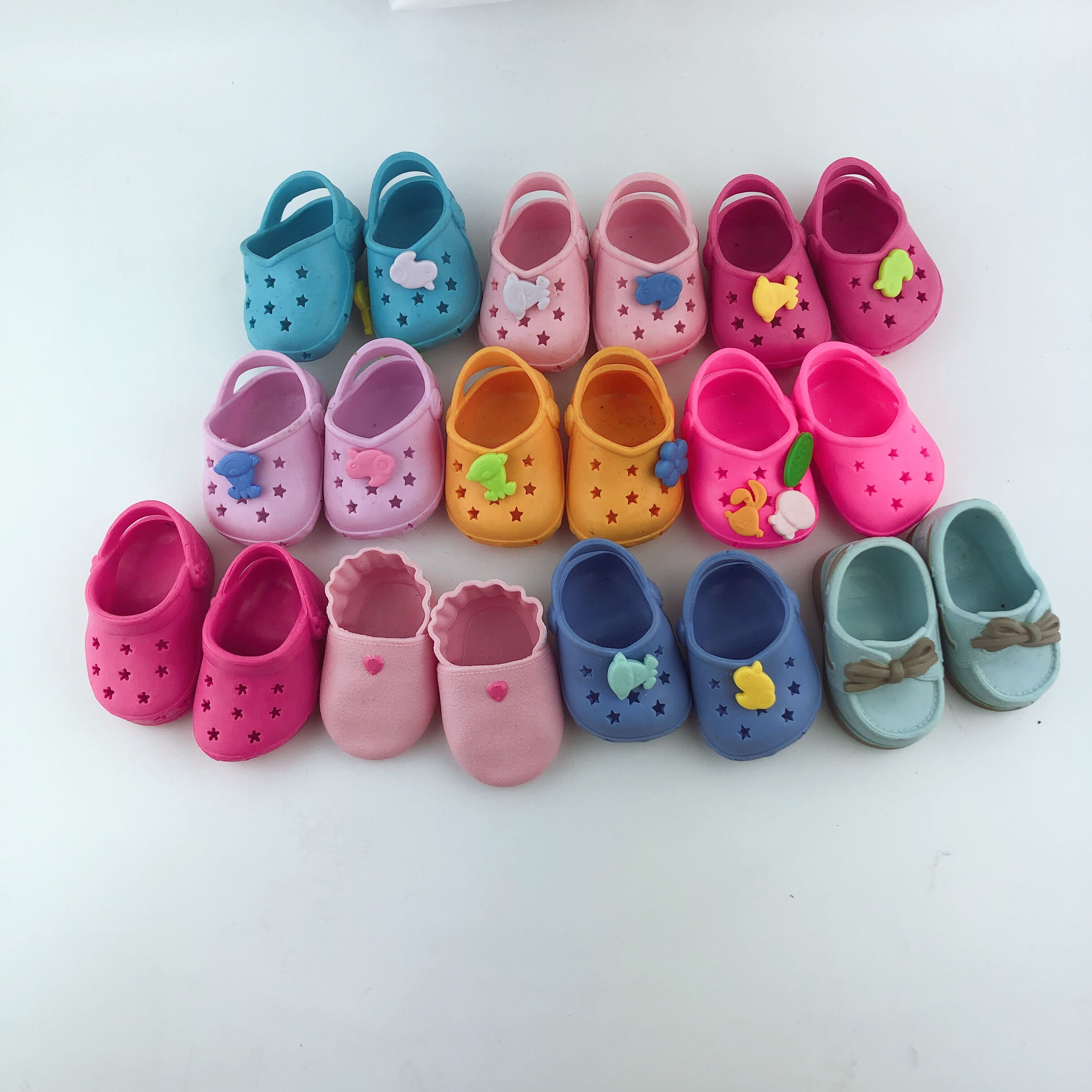 43cm New Born Doll Shoes And 17inch Doll Accessories Hot Meired Doll Shoes With Cute Charms For Baby Christmas Gift