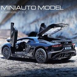 LP770 LP750 Модель литья под давлением из 1:32 сплава, автомобильный звуковой свет, игрушка для автомобиля, миниатюрная модель машинки, игрушки для...