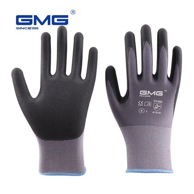 Горячая продажа 2018 ГМГ нейлон спандекс CE сертифицированный EN388 микротонкой пены перчатки нитриловые перчатки для безопасной работы мужчин