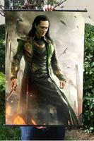 Avengers 1: Loki HD Game Movie Wall Scrolls Poster Bar Cafes Home Decor Banners Hanging Art Waterproof Cloth Decorate 60X90 CM