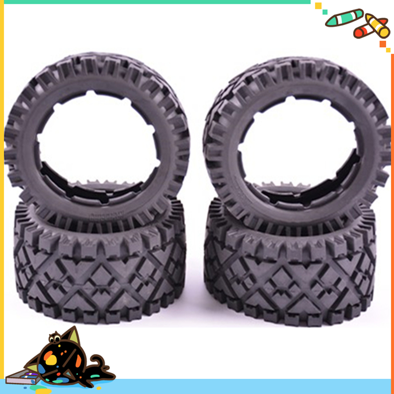 5B front and Rear All Terrain Tire Set x 4pcs for 1/5 rovan hpi km Baja 5B without inner foam Free shipping front sand buster tyres tire set with nylon wheel 2pcs for baja 5b hpi km rovan