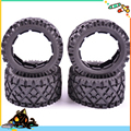 5B front and Rear All Terrain Tire Set x 4pcs for 1/5 rovan hpi km Baja 5B without inner foam Free shipping