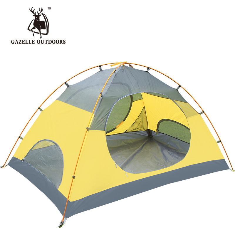 POINT BREAK Double layer aluminum rod rainproof outdoor camping tent camping tent hewolf high quality 2 person double layer camping equipment round aluminum rod rainproof outdoor tent