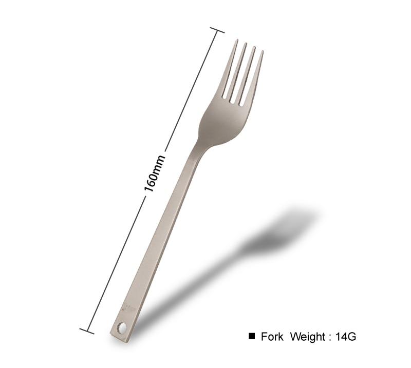 Kuti portative 3 copë Titanium takëmeri thikë Forkë Camping - Kampimi dhe shëtitjet - Foto 5