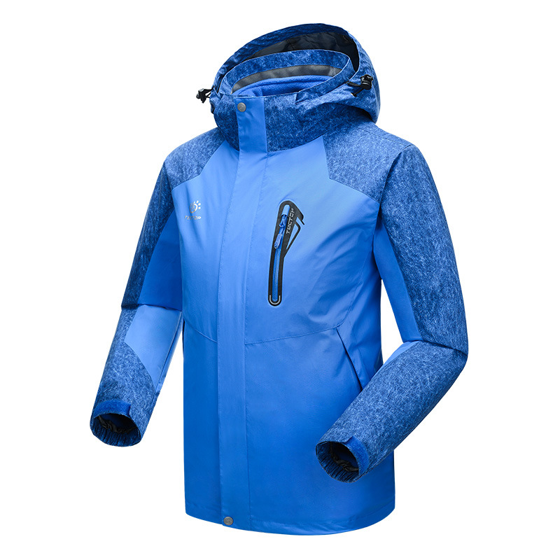 ФОТО Winter 3 in 1 Outdoor Men Hiking Jackets Man Waterproof Windproof Thermal two-piece Sport Coats For Camping Skiing Hiking S-XXXL