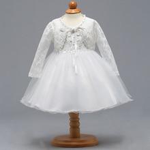Розничная ; элегантное кружевное свадебное платье с цветочным рисунком для маленьких детей; пальто с длинными рукавами и жемчужинами; платье для первого причастия для маленьких девочек; BBTZ007