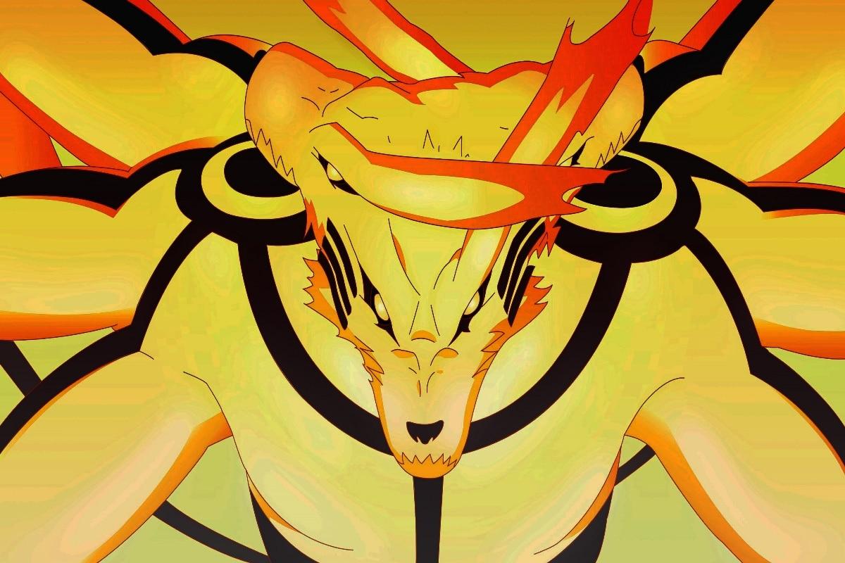 Japanese Anime Ashura Kurama Mode No Yoko Naruto Shippuden