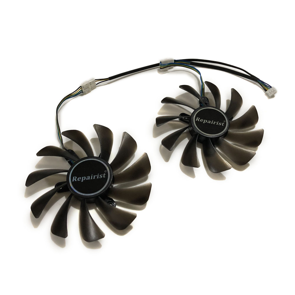 где купить GeForce GTX 1080 Ti AMP Edition GPU VGA Cooler Cooling Fan For ZOTAC ZT-P10810D-10P gtx1080ti Video Cards As Replacement дешево