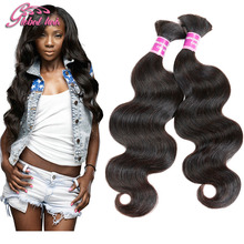 8A peruvian virgin hair body wave human hair for braiding bulk no attachment 4pcs bulk hair for braiding mixed length 10-30inch