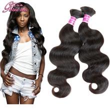 8A peruvian virgin hair body wave human hair for braiding bulk no attachment 4pcs bulk hair for braiding mixed length 10-30inch