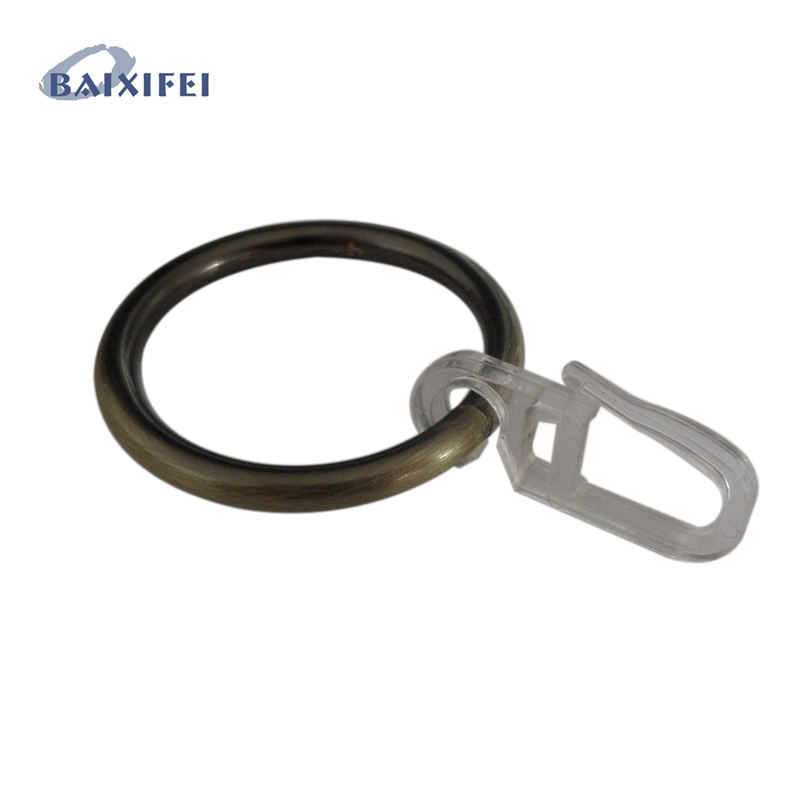 50 Pcs D41mm Iron Ring and Hook , Curtain Rod Rings for Window Decoration