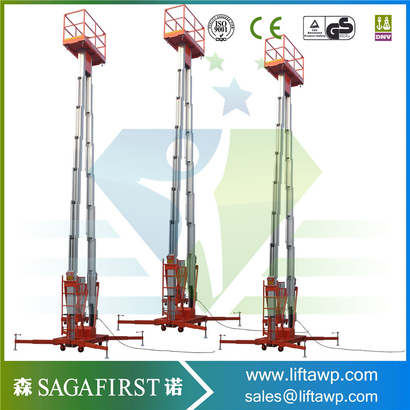 10m To 12m Light Weight Towable Aluminum Alloy Lift Platform Scissor Lift