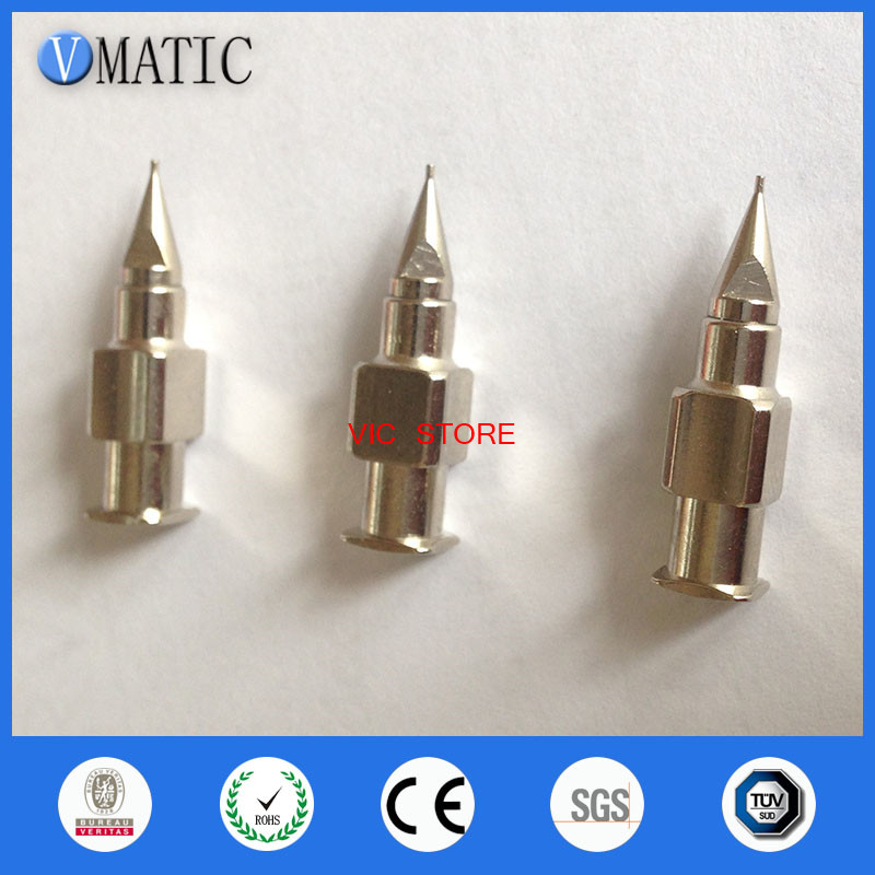 Free Shipping High Precision Stainless Steel Tapered Needle Nozzles 25G Metal High Precision Dispensing Needle Tips