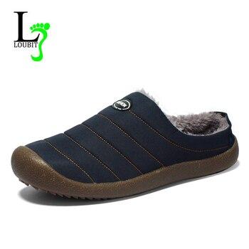 2019 Winter Shoes Men Waterproof Warm Casual Shoes With Fur Men Loafers Flats Canvas Shoes Male Footwear hombre Plus Size 48 Обувь