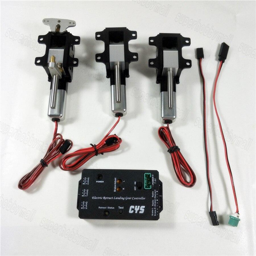 Zyhobby 3 pc/ensemble 90-Degré Électrique Rotation Se Rétracter Pour 6.0 ~ 12 kg Turboréacteur RC Avion CYS-R2090