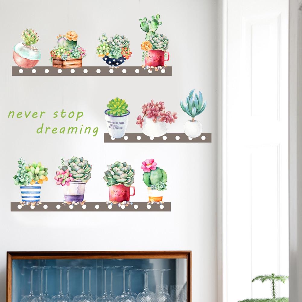 Красочный завод Цветочный стены стикеры гостиной спальня украшения сада Наклейки на стены спальня настенной росписи искусства декора DIY пл... ...