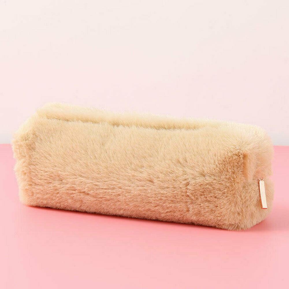 Стиль Мода девушка милый плюшевый пушистый пенал Чехол для макияжа Кошелек хранилище сумка для монет