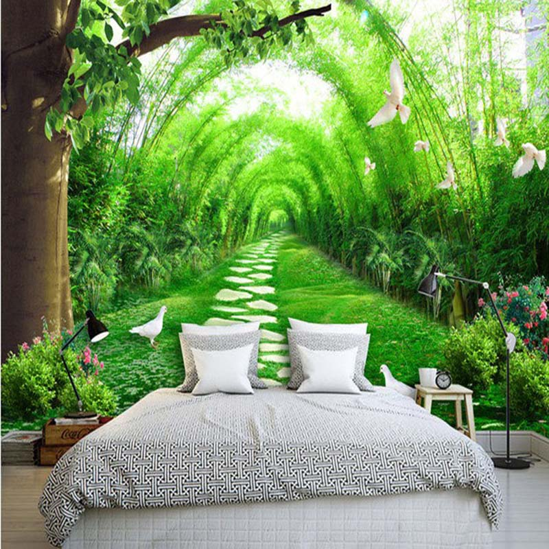 3D Seamless Landscape Wallpaper for Walls Pastoral Murals Sofa Background Living Room Bedroom PVC Wall Paper for Home Decor [zob] supply of new original omron omron level switch cover ps 3s 5pcs lot