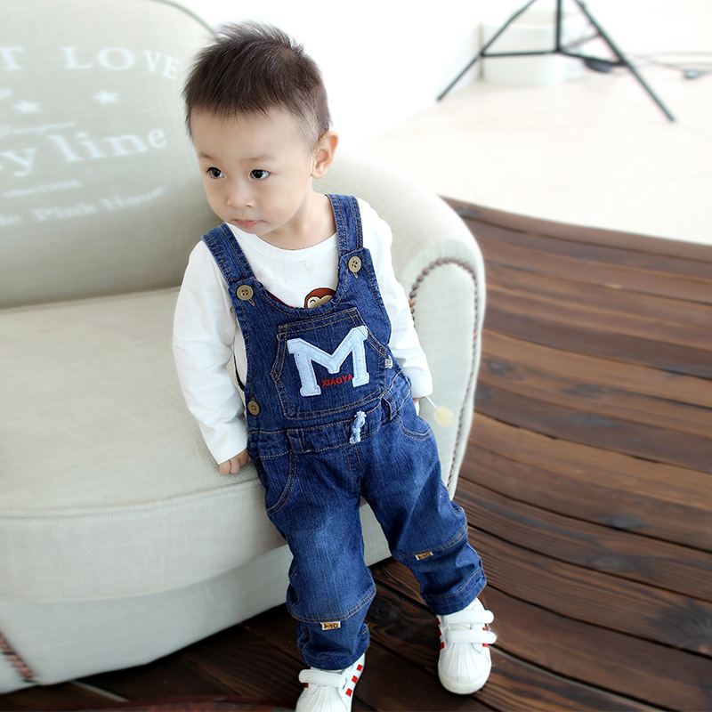 2017 new arrival infant jeans pant baby cartoon denim