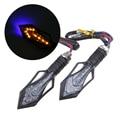 Arrow Shape LED Motorcycle Motorbike Dirt Bike Turn Signals Blinker Indicator Amber Blue Light Lamp Frecce Moto Turn Signals ATV