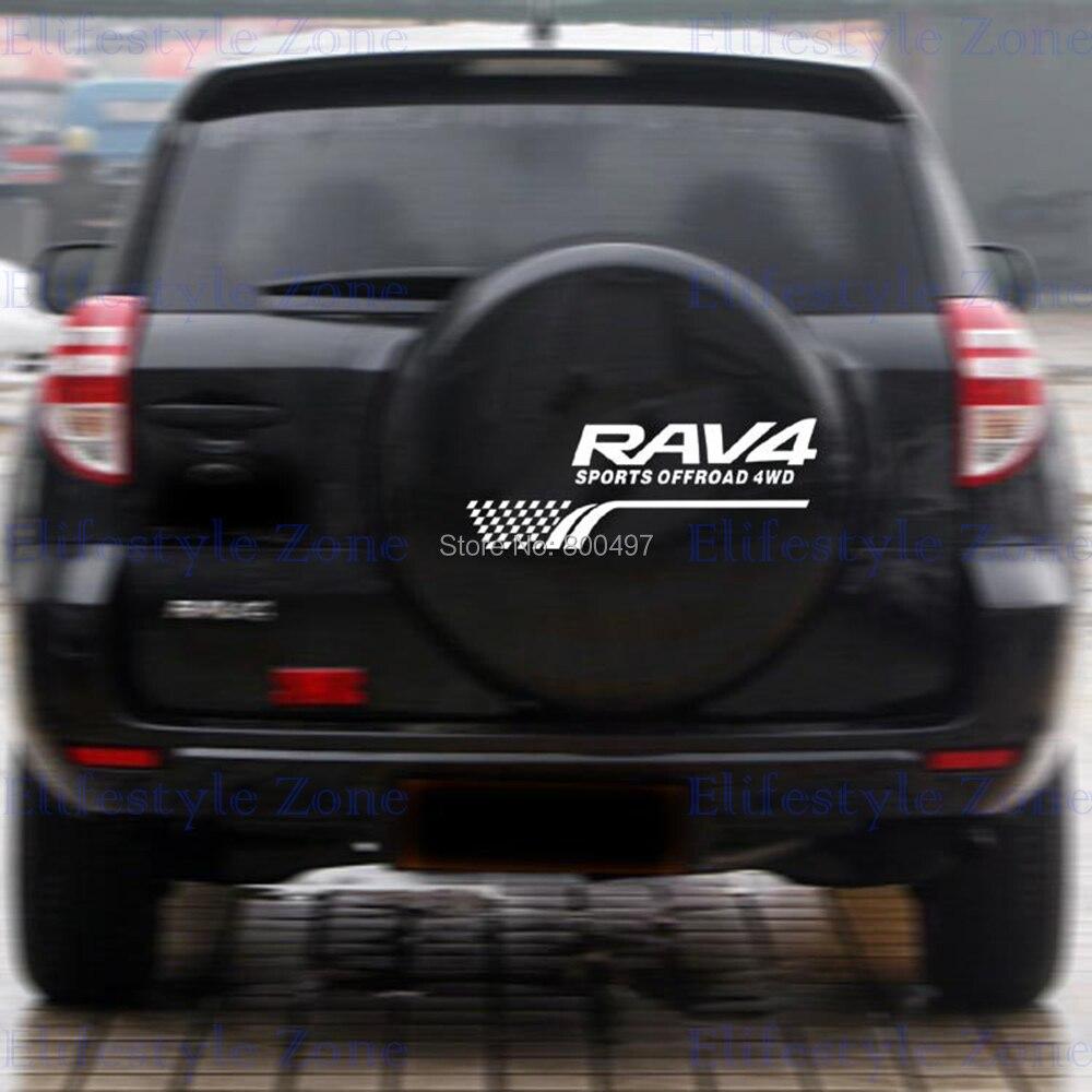 Image 2 - Новый стиль украшения задние запасные шины отражательные наклейки для автомобилей наклейки на весь Кузов для Toyota Rav 4-in Наклейки на автомобиль from Автомобили и мотоциклы