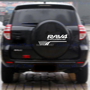 Image 2 - New Style Decoration  Rear Spare Tire Reflective Stickers Car Whole Body Decals for Toyota Rav 4