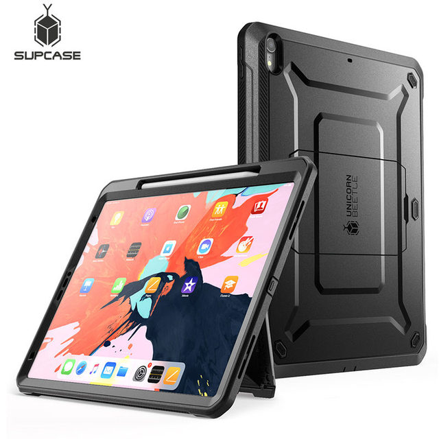 For iPad Pro 12.9 Case (2018) Compatible Apple Pencil SUPCASE UB PRO Full body Cover with Built in Screen Protector & Kickstand