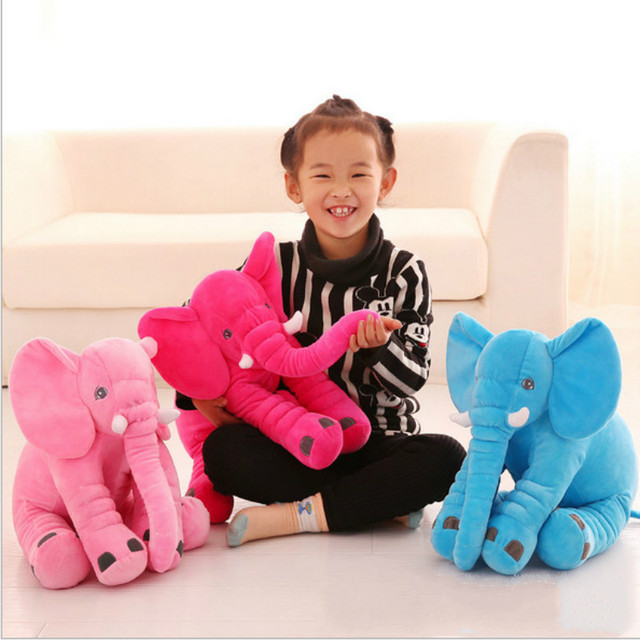 Cute Lovely Soft Elephant Plush  Doll Baby Sleeping Pillow Kids Toys  Home Decoration Gift for  Children 15.7in