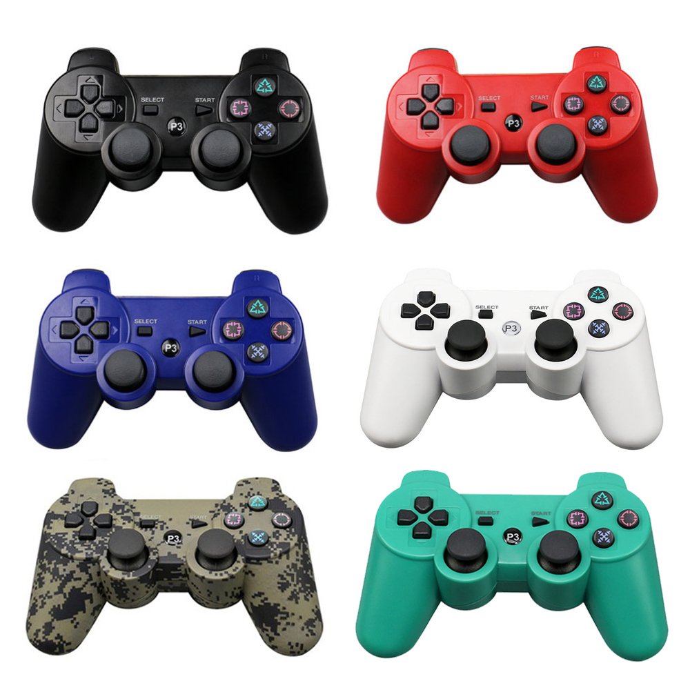 Onetomax Bluetooth Wireless Gamepad Controller For Sony Playstation PS3 Wireless Gamepad Joystick Controller sixaxis blueloong 2pcs red and blue color wireless bluetooth joystick gamepad for dualshock 3 playstation 3 ps3 controller